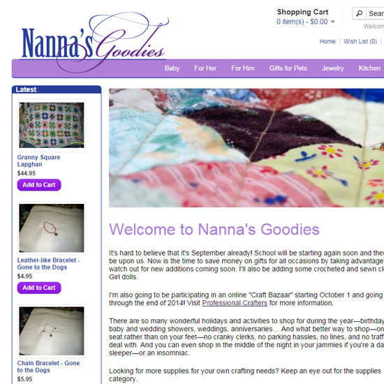 Home page of Nannas Goodies