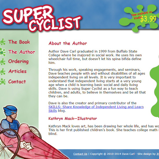 Home page of Super Cyclist