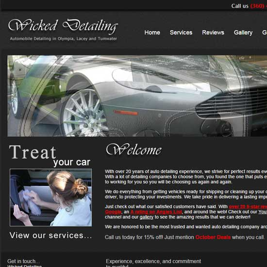 Home page of Wicked Detailing