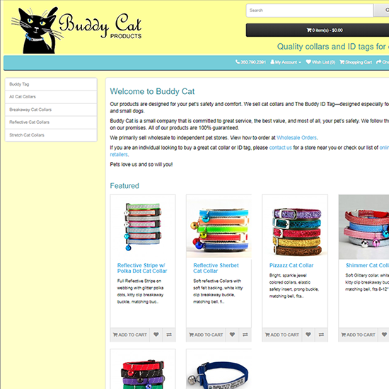 Home page of Buddy Cat