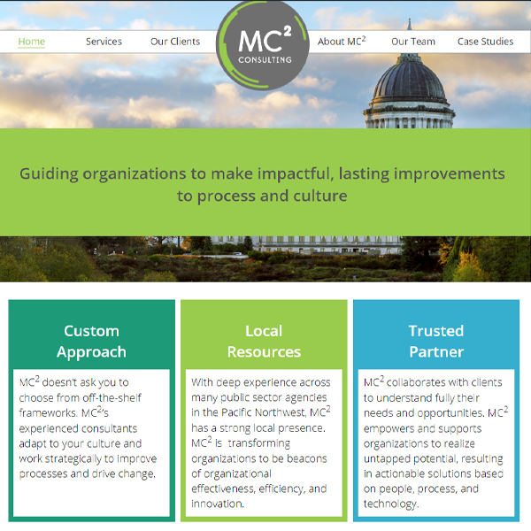 Home page of MC2 Consulting